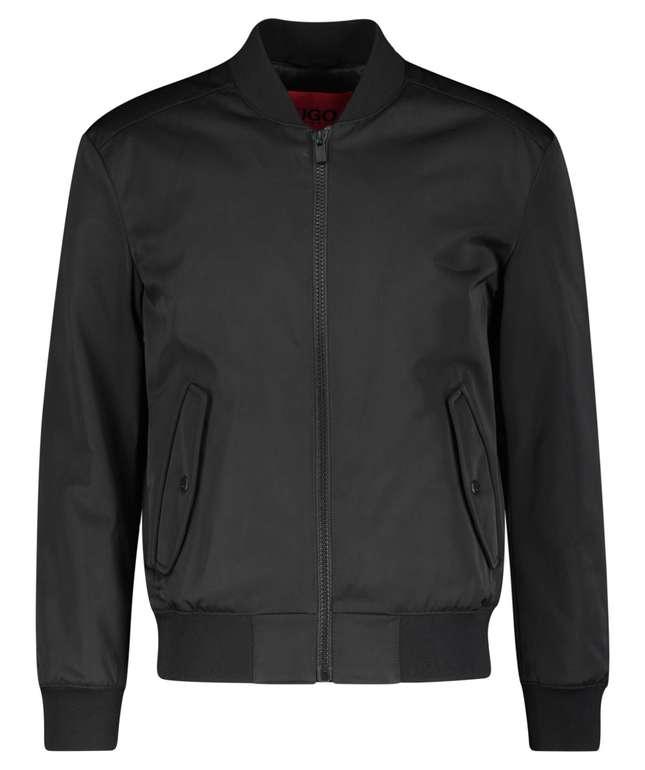 Hugo Boss Boris2121 Herren Jacke mit leichtem Stehkragen in Schwarz ab 255,95€ (statt 300)