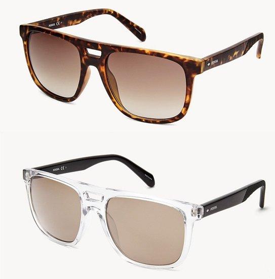 Fossil Herren Duval Rectangle Sonnenbrille für je nur 38€ (statt 75€)