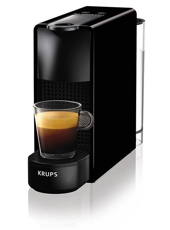Krups XN1108 Nespresso Essenza Mini in schwarz für 55€ (statt 69€) + 100 Kaffeekapseln