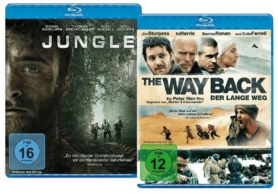 Jungle & The Way Back auf Blu-ray für 7,99€ inkl. Versand (statt 16€)