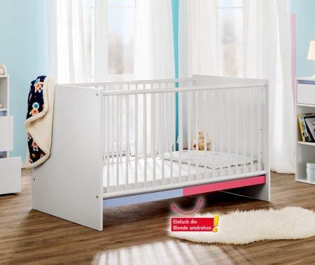 Trendstabil Babybett mit zweifarbiger Wechselblende für 49,50€ inkl. Versand