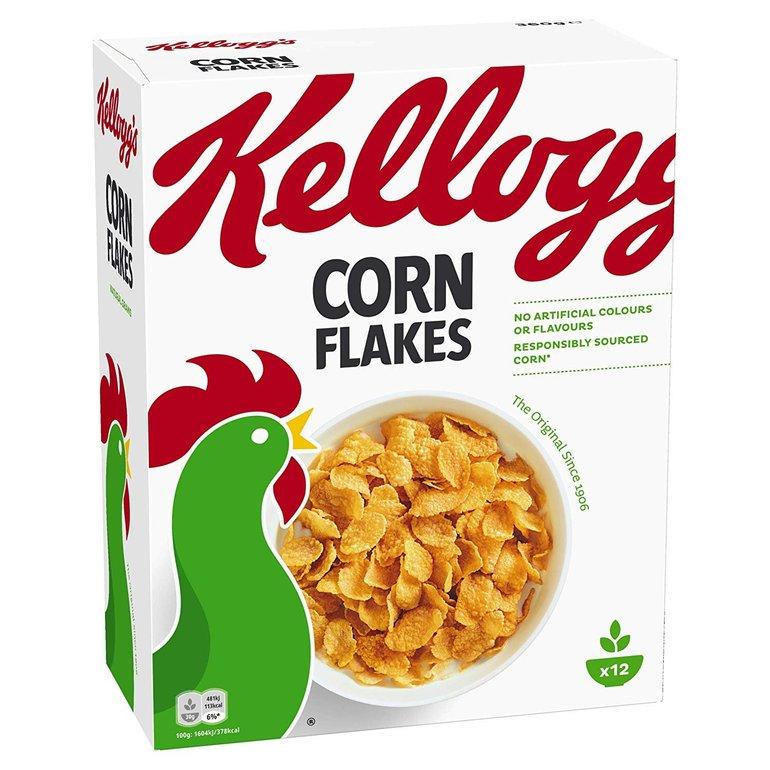 Kellogg Corn Flakes, 4er Pack (4 x 360 g) für 6,37€ inkl. Versand (statt 12€)