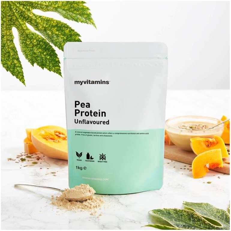 Proteine Nachschub: 57% Rabatt by MyVitamins, z.B. 1kg Erbsenprotein für 4,85€