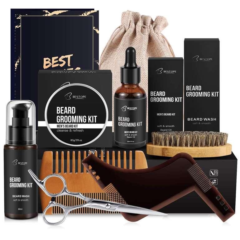 10-tlg. Bestope Bartpflege Set mit Geschenkbox für 12,59€ inkl. Prime Versand (statt 20€)
