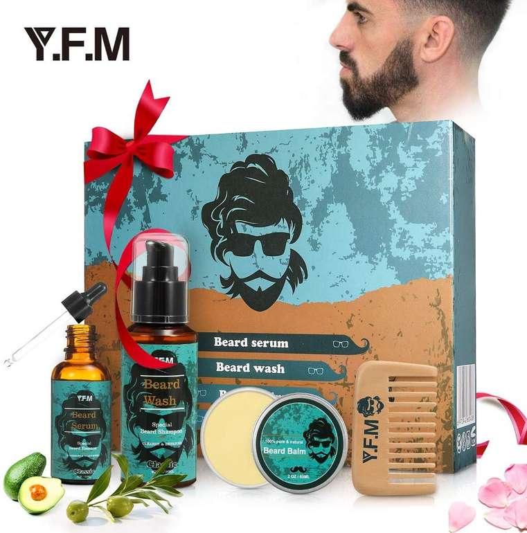 Y.F.M. Bartpflege Set (Bartöl, Shampoo, Wachs, Kamm) für 8,49€ (Prime)