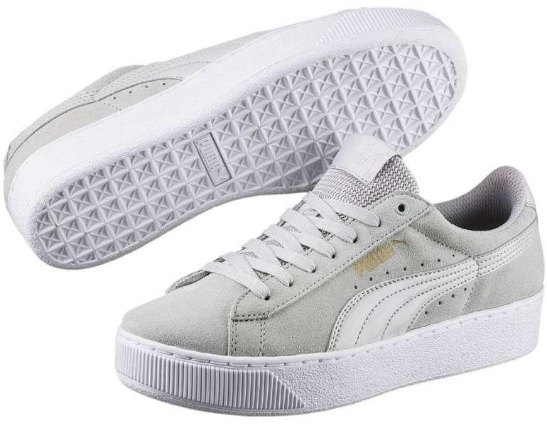 Puma Vikky Platform Damen Sneaker in grau & schwarz für 23,92€