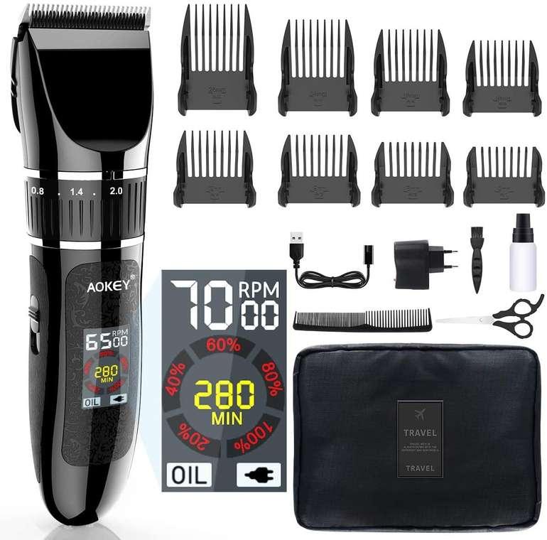 Aokey wiederaufladbare Haarschneidemaschine mit LCD Display für 35,99€ inkl. Versand (statt 42€)