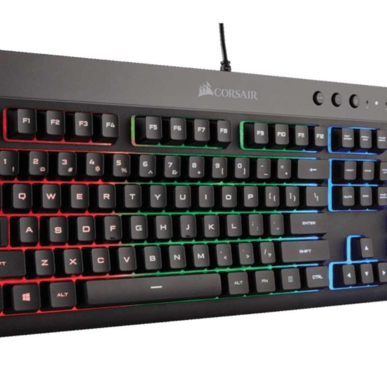 Corsair 3in1 Gaming Bundle (K55+M55 RGB Pro+MM300) Tastatur, Gaming Maus und Mauspad für 66€