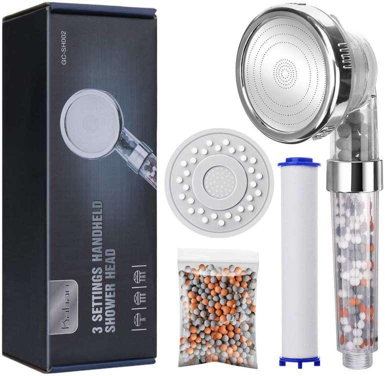 Baban Filter Duschkopf mit Drei-Wasser-Modus für 8,39€ inkl. Prime Versand