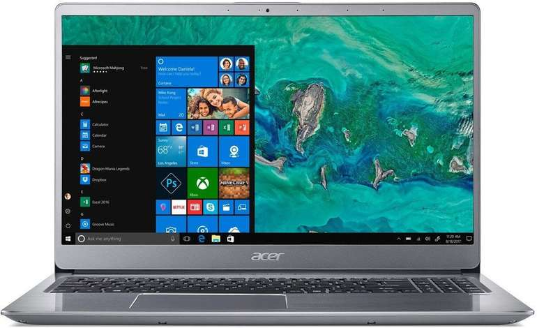 Acer Swift 3 (SF315-52G) - 15,6 Zoll Ultra Thin Full HD IPS Notebook mit 8GB RAM & 256GB SSD für 656,99€