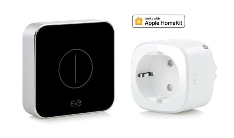 Eve Button + Eve Energy EU Zwischenstecker (HomeKit komptl.) für 46,90€ inkl. VSK (statt 83€)
