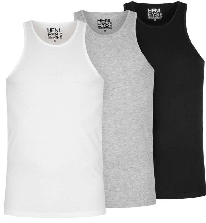 3er Pack Henleys Herren Tank Top Shirt für 10,61€ inkl. Versand (statt 18€) - nur in XS und M!