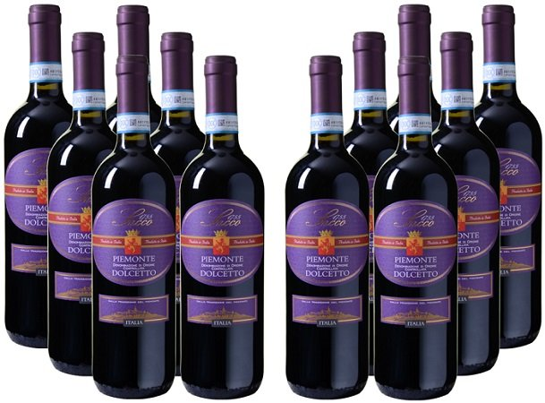12er Paket Sacco - Dolcetto - Piemonte DOC für 49,92€ inkl. VSK