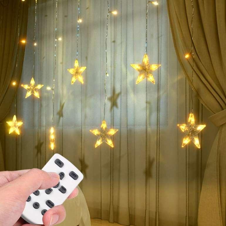 "Lixada ""Twinkle Star"" Sternen-Lichterkette mit 94 LEDs für 14,99€ inkl. VSK (statt 30€)"