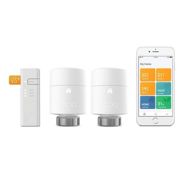tado Heizkörper-Thermostat Starter Kit V3+ inkl. 2 Thermostate für 114,90€ (statt 130€)