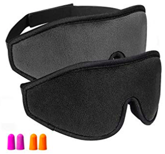 2er Pack Oiosen 3D Augenmasken zum Schlafen + Ohrstöpsel für 12,59€ (Prime)