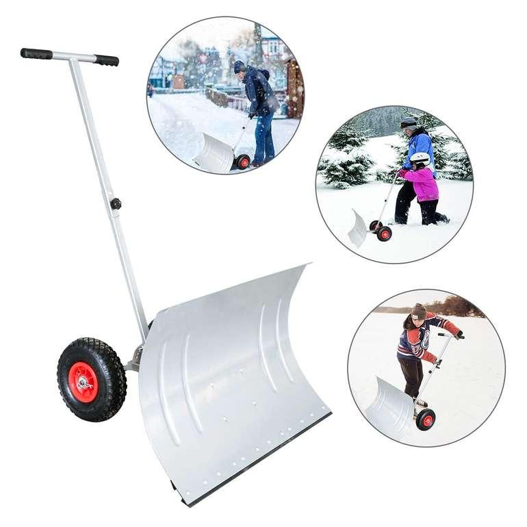Wolketon Schneeschaufel mit Rädern (74 cm, höhenverstellbar) für 29,89€ inkl. Versand (statt 46€)