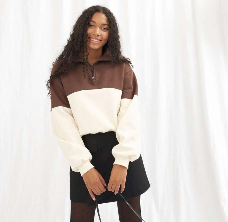 Onygo Zip Up Crop Sweatshirt für 28,98€ inkl. Versand (statt 35€)