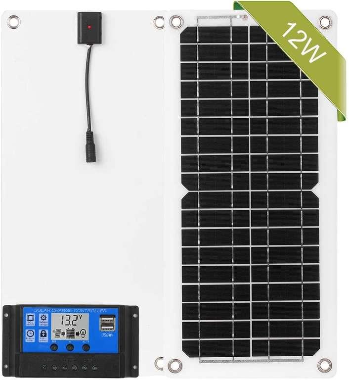 Lechnical Solarpanel-Kit mit Laderegler (12W, 12V) für 26,65€ inkl. Versand (statt 33€)