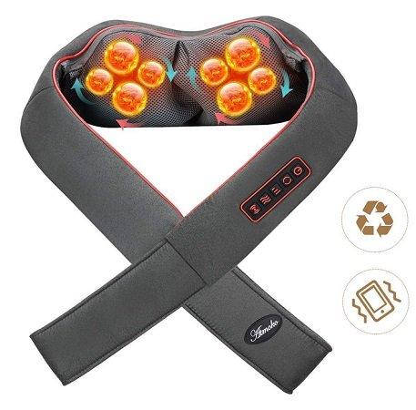 Atmoko - Nacken- und Schultermassagegerät mit Wärmefunktion für 32,99€