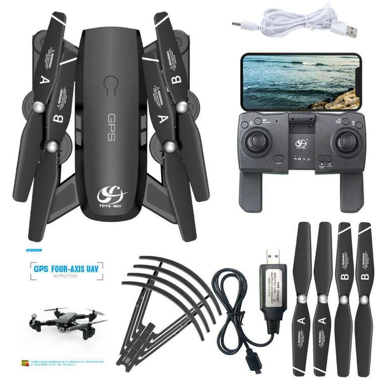 CSJ S166GPS Drohne (1080P-HD Kamera, Gestesteuerung) + 1 Batterie je 53,39€ inkl. Versand (statt 75€)
