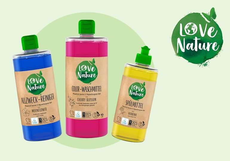 Love Nature Produkte kostenlos testen (max. 8 Stück) dank Geld-zurück-Garantie (GzG)