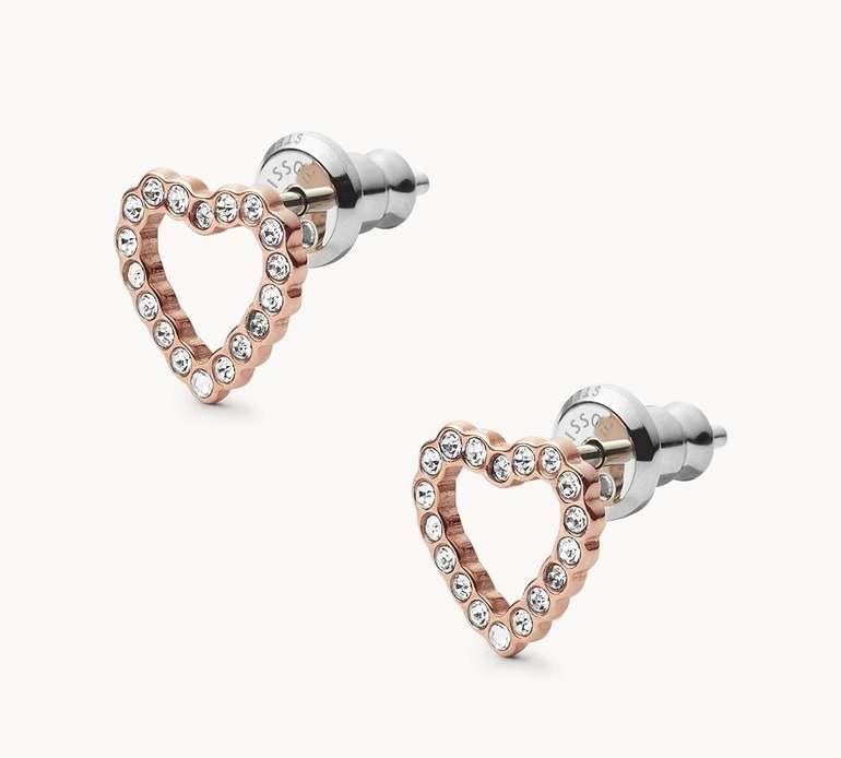 Fossil Damen Ohrstecker Open Heart (JF03084791) für 18,90€ inkl. Versand (statt 35€)