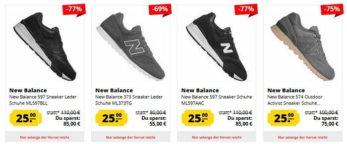 finest selection c46bd 40e47 Großer New Balance Sneaker Sale bis -41% - z.B. die 500er Serie…