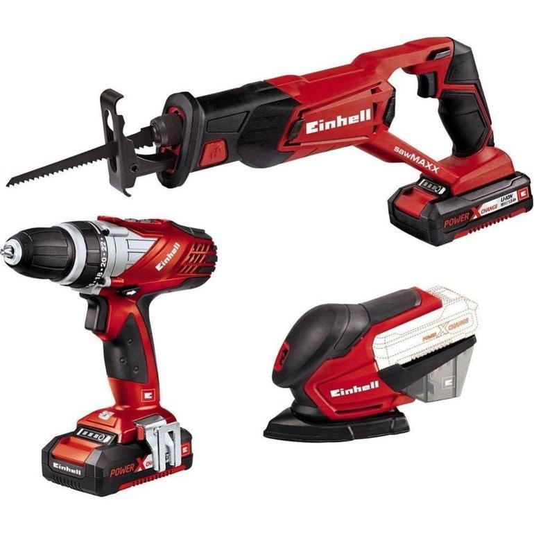 Einhell Power-X-Change Werkzeugset mit 3 Geräten für 119,99€ inkl. Versand