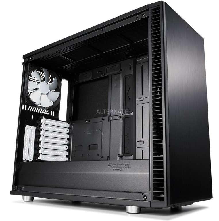Fractal Design Define S2 Black PC-Gehäuse (59l, bis ATX, inkl. 3x 140mm-Lüfter, USB-C, Glas-Seitenfenster) für 106,89€