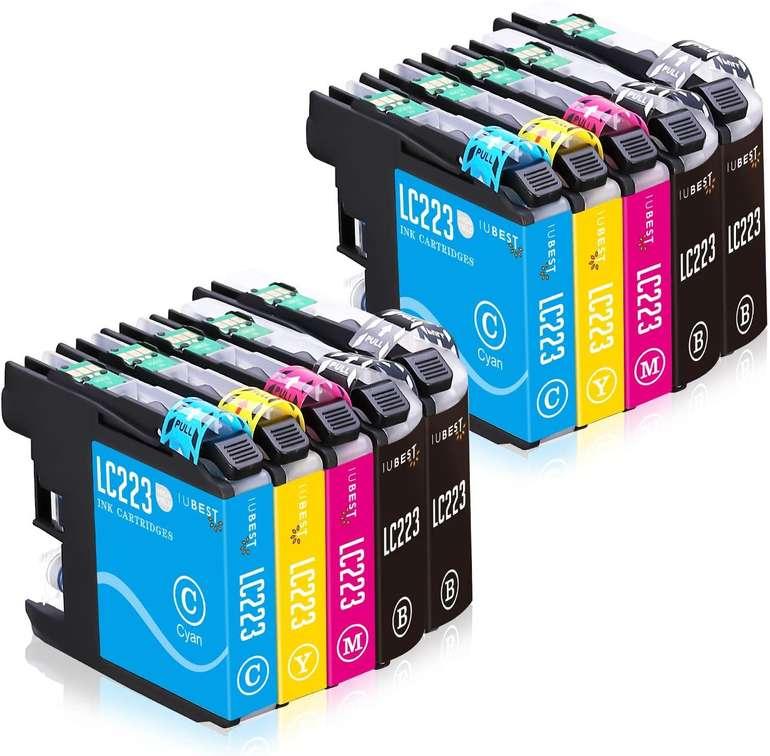 Iubest Multipack kompatible Druckerpatronen LC223XL (Brother) für 4,54€ inkl. Prime Versand (statt 13€)
