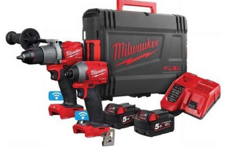 Milwaukee Bohr/- und Schlagschrauber Set (M18ONEPP2A2-502X) mit 18 Volt für 508,90€ inkl. Versand (statt 590€)
