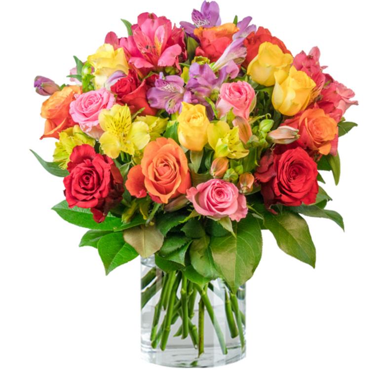 """Rosenarrangement """"Farbspiel"""" mit über 100 Blüten für 24,98€ inkl. Versand"""