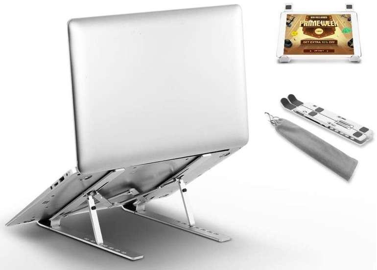 Docooler Aluminium Laptop-Ständer (7 einstellbare Winkel, zusammenklappbar) für 9,99€ inkl. Prime Versand