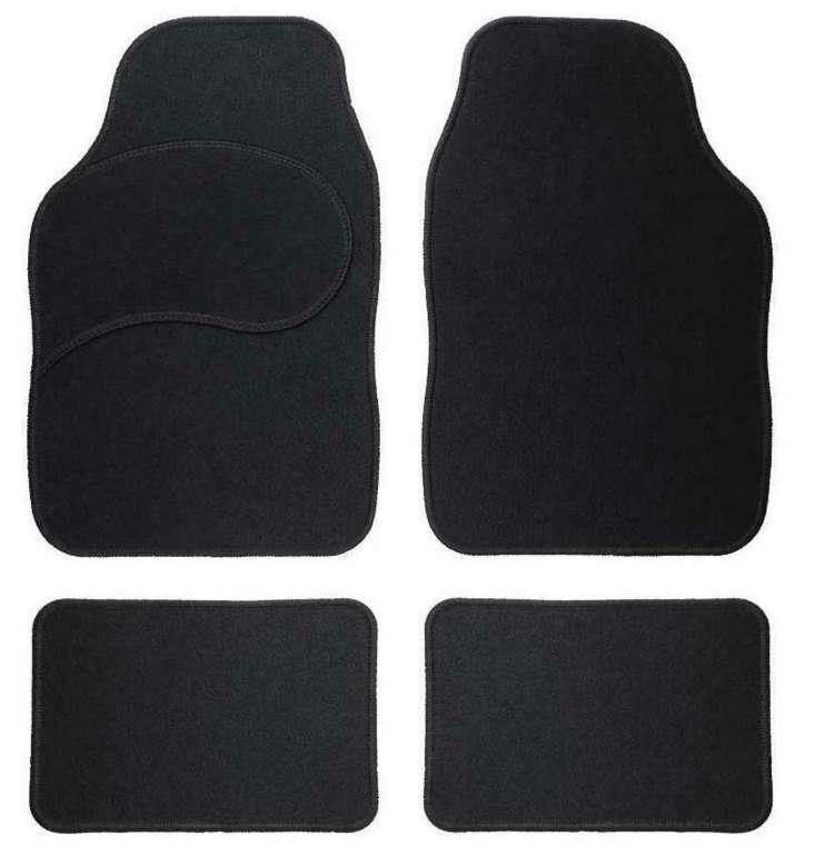One Textil-Fußmatten im 4-teiligen Set fürs Auto in schwarz ab 3€ inkl. Versand (statt 20€)