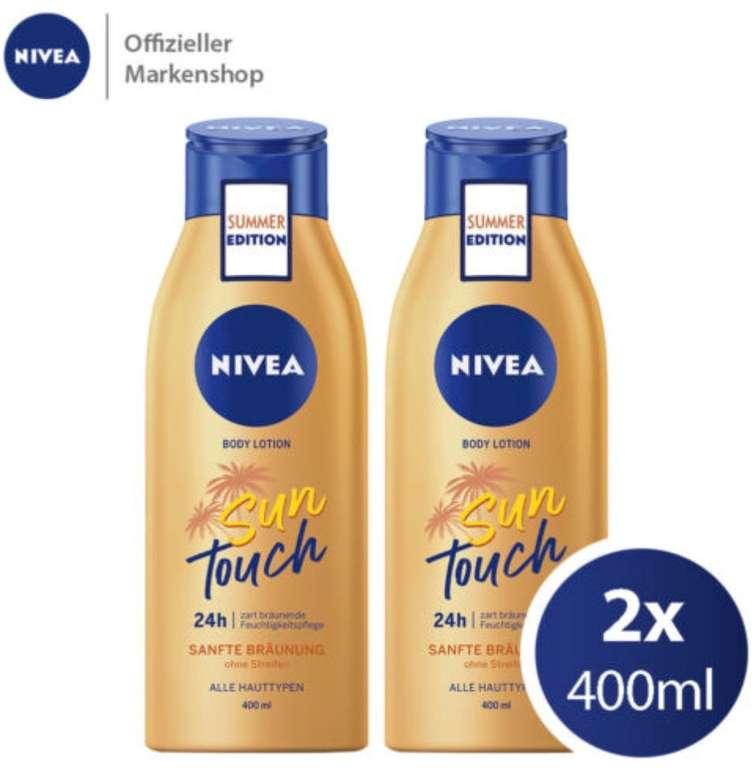 2x 400ml Nivea Body Lotion Sun Touch (sanfte, natürliche Bräune ohne Streifen) für 12,99€ (statt 16€)