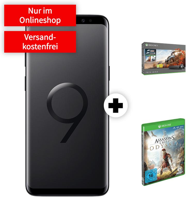Galaxy S9 + Xbox One + Games + Vodafone real (8GB, Allnet, SMS-Flat) 29,99€ mtl.