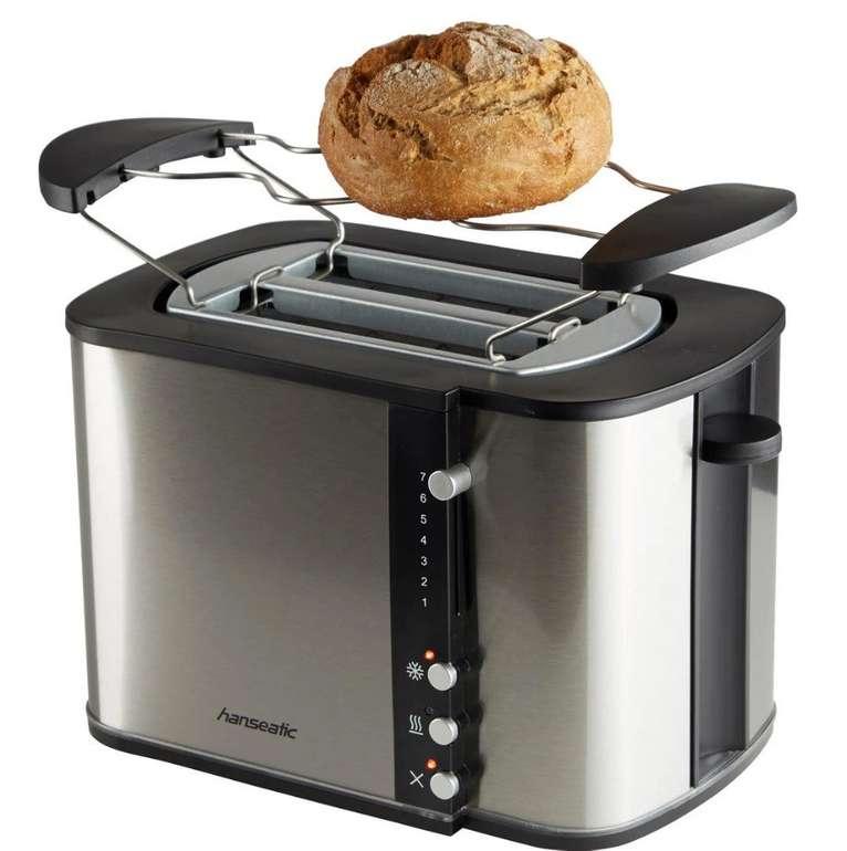 """Hanseatic 870W Toaster """"59021228"""", 2 kurze Schlitze für 24,90€ (statt 35€)"""