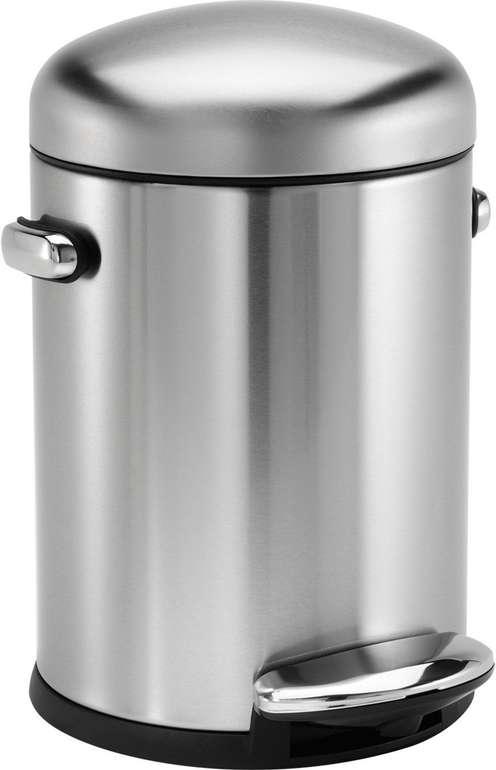 Simplehuman Retro-Treteimer aus Edelstahl (4,5 Liter) für 17,85€ inkl. Versand (statt 40€)