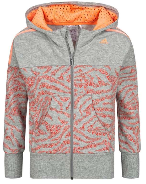adidas Fun Kinder Kapuzen Sweatshirt in grau/orange für 26,94€ inkl. Versand (statt 35€)