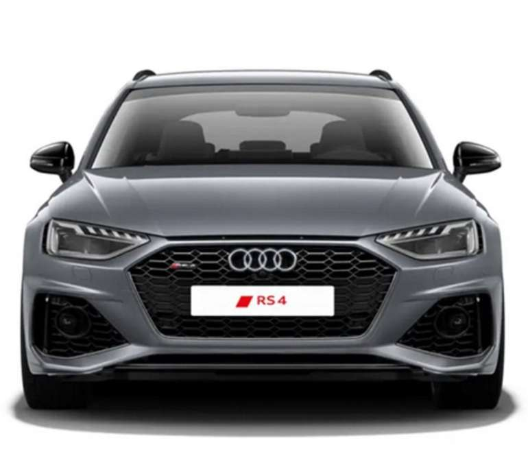 Gewerbe Leasing: Audi RS4 Avant Tiptronic in Nardograu mit 450PS für 479€ netto mtl. (ÜF: 699€, LF 0,69)