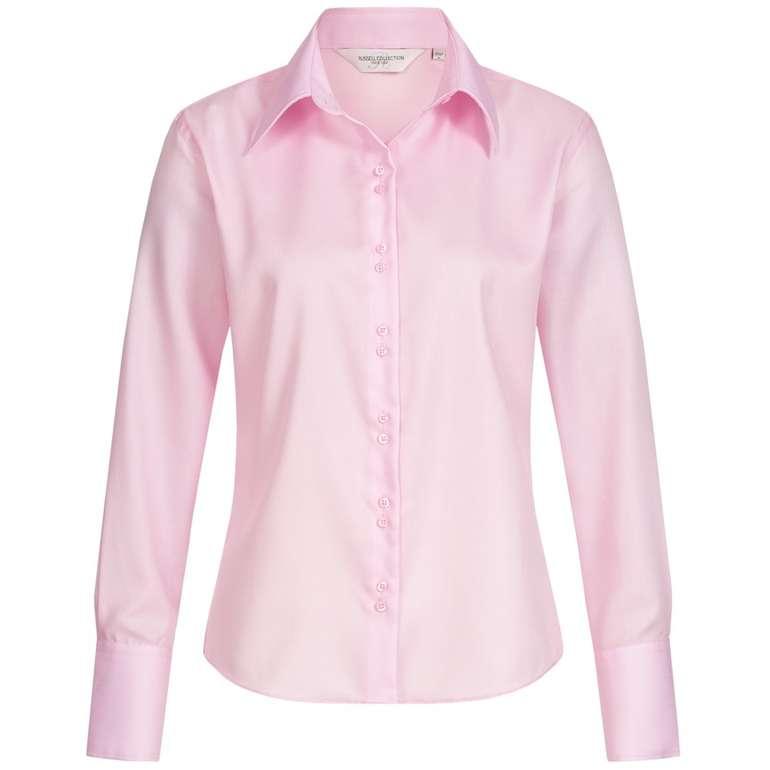 Russell Longsleeve Ultimate Non-iron Damen Hemd in Classic-Pink für 6,17€ (statt 15€)