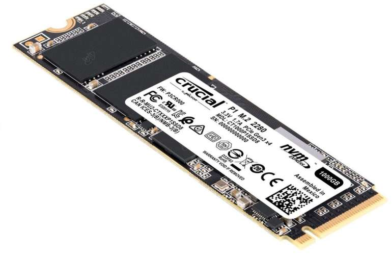 Crucial P1 M.2-NVMe-SSD mit 1 TB Speicherplatz für 89,18€ inkl. Versand (statt 98€)