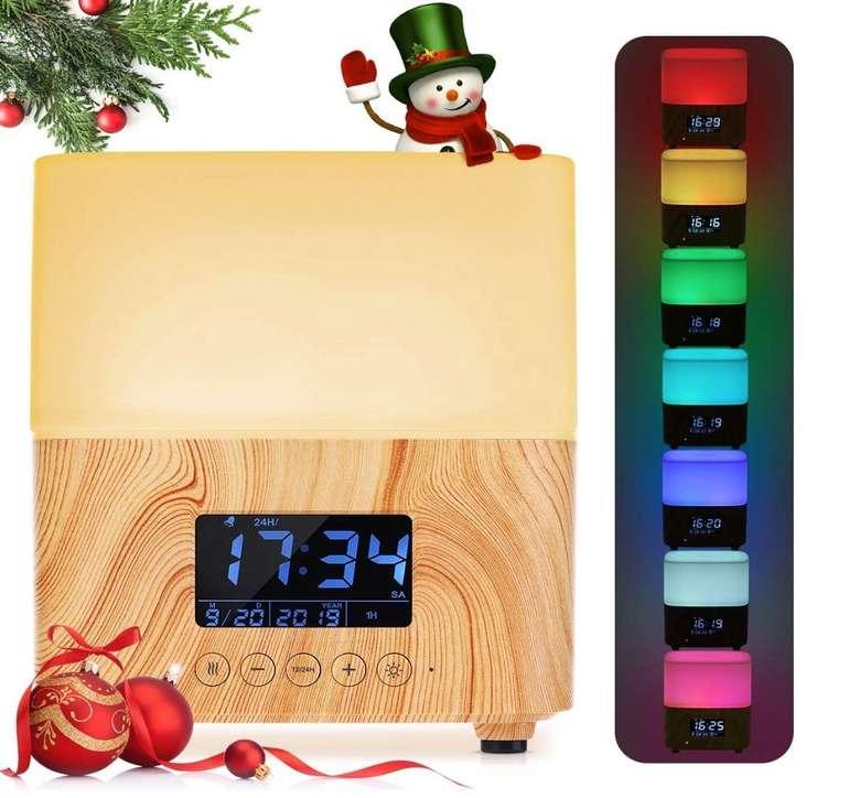 Y.F.M. Aroma Öl Diffuser bzw. Luftbefeuchter mit LED Beleuchtung + Uhr für 17,39€ (Prime)