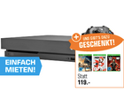 Xbox One X + Assassins Creed Origins + NBA 2k18 + WWE 2k18 für 469€ (statt 510€)