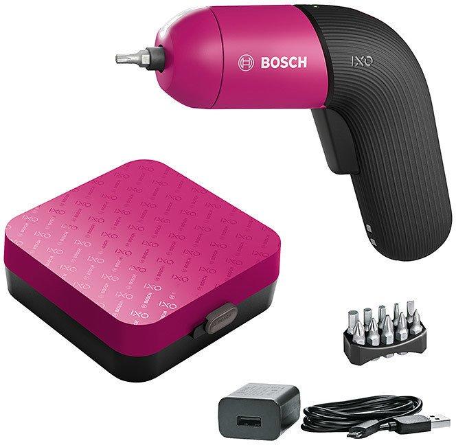 Bosch IXO VI Akkuschrauber Colour Edition Pink (mit Ladegerät & Bitsatz) für 36,99€ (statt 49€)