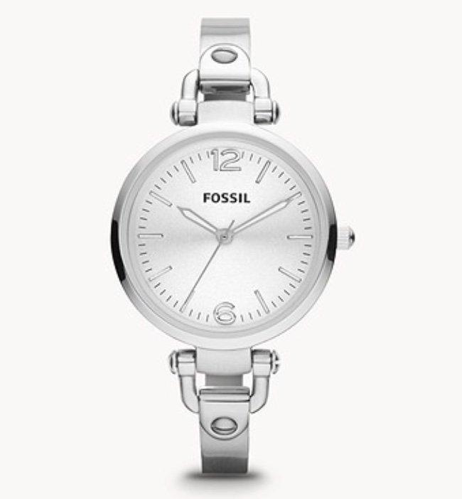 Fossil ES3083 Georgia Damenuhr Edelstahl Silber für 39€ inkl. Versand (statt 65€)