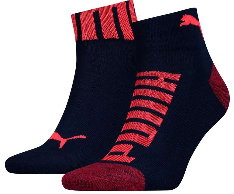 2er Pack Puma Logo-Bund Herren Quarter Socken für 3,40€ inkl. Versand (statt 7€)