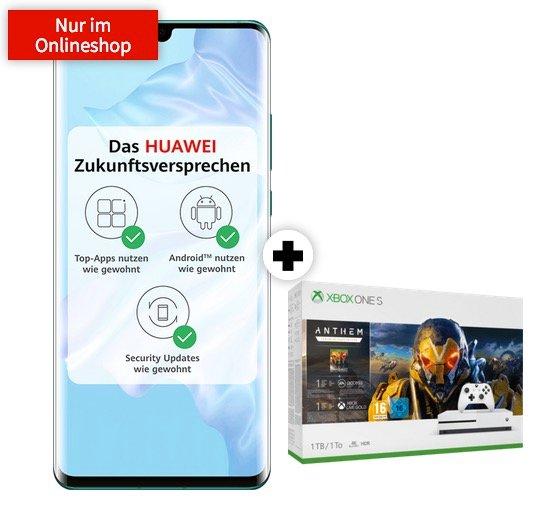 Huawei P30 Pro + Xbox One S Anthem Bundle (1€) + Telekom Allnet Flat + 6GB LTE für 29,95€ mtl.