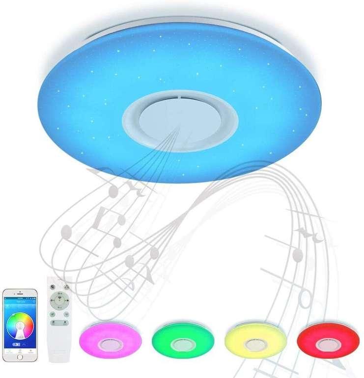 Jdong Bluetooth Deckenleuchte mit Lautsprecher & App-Steuerung für 31,74€ inkl. Versand (statt 58€)